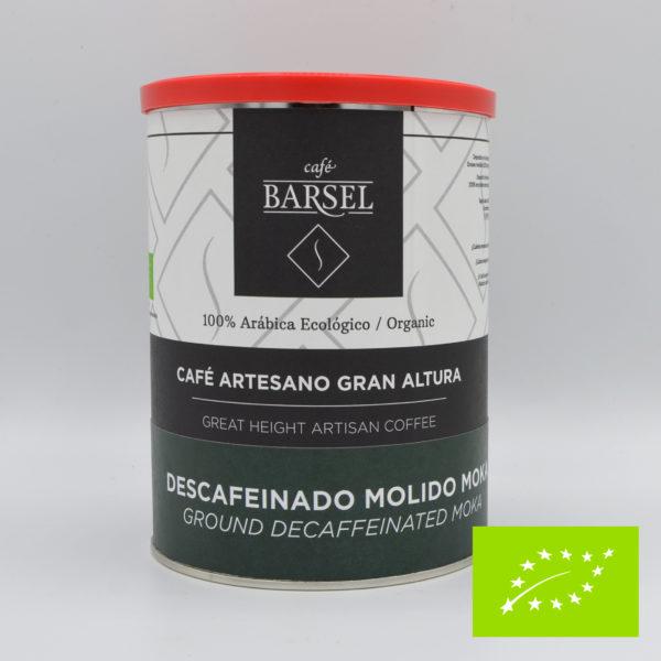 Café descafeinado ecológico molido