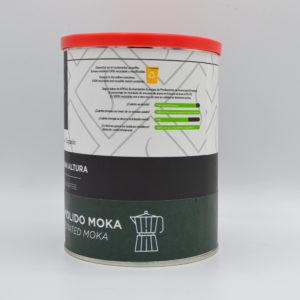 Frontal Café descafeinado ecológico molido moka