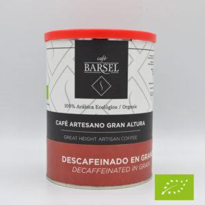 Café ecológico descafeinado en grano