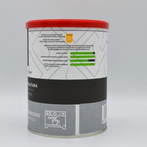 Frontal café ecológico molido